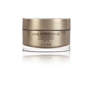"""Дневной укрепляющий крем SPF 10 для всех типов кожи """"Gold  Premium"""""""