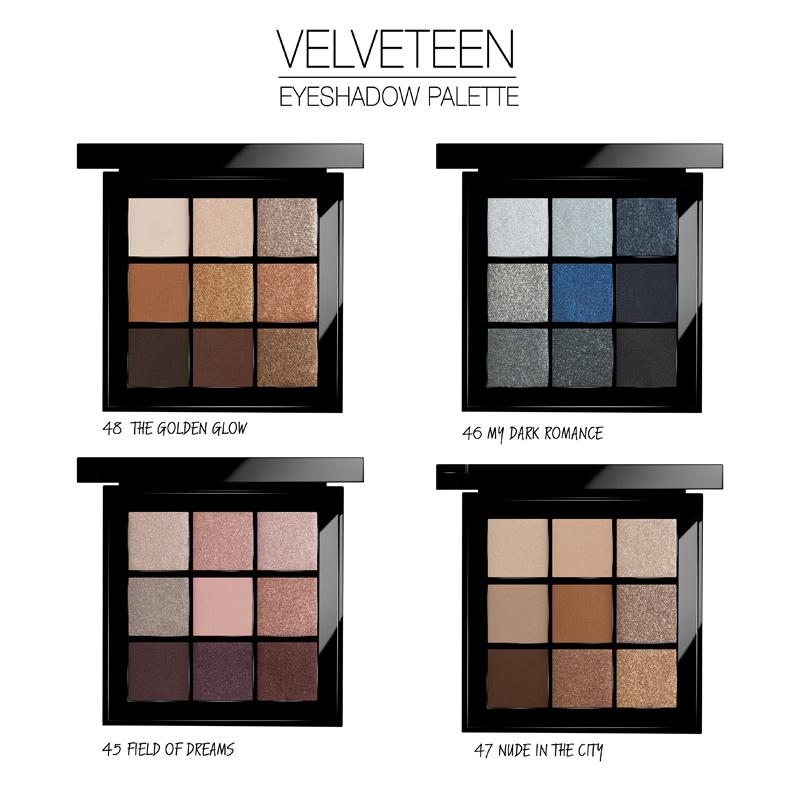 """Палитра Теней Для Век """"Velveteen"""" -  Velveteen Eye Shadow Palette"""