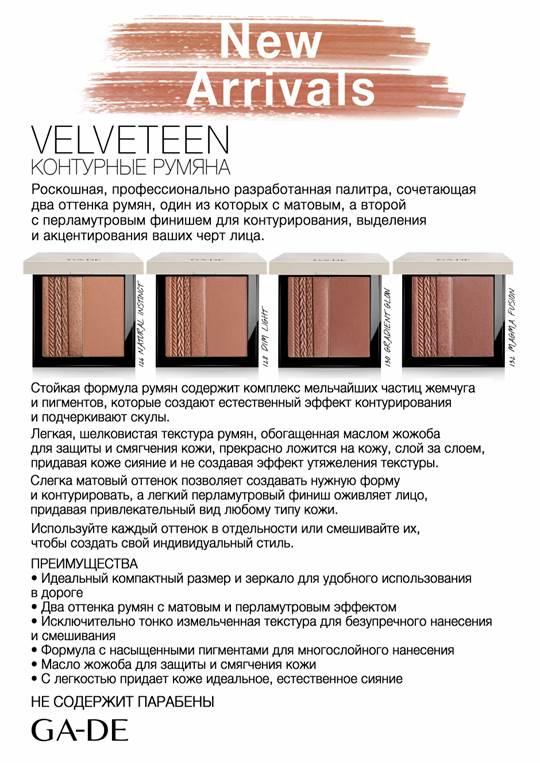 "Румяна-контуринг ""Velveteen"" - Velveteen Contour Blush"